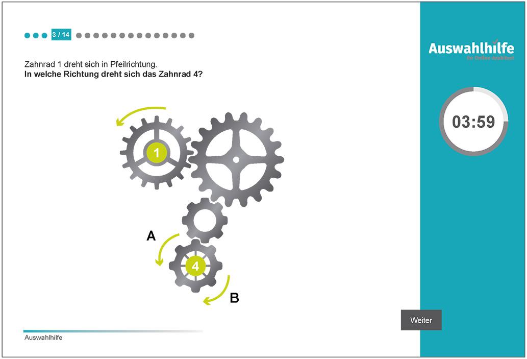 Beispielaufgabe Technisches Verständnis Auswahlhilfe online Azubitest i-kiu ibw