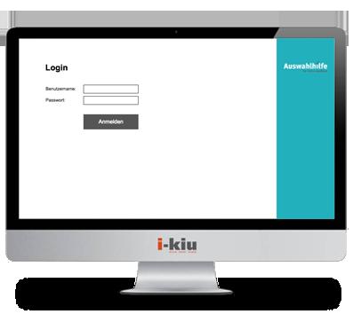 Testsystem Login Maske Azubitest - i-kiu ibw